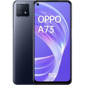 """Oppo A73 Smartphone 5G, 177g, Display 6.5"""" FHD+ LCD, 3 Fotocamere 16MP, RAM 8GB + ROM 128GB non Espandibile, Batteria 4040mAh, Ricarica Rapida, Dual Sim, [Versione Italiana], Colore Navy Black"""