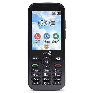 Doro 7010 Telefono Cellulare per Anziani Dual SIM 4G Facile da Usare con WhatsApp anche per Video Chiamate e Facebook (Grigio)