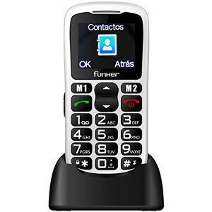 Funker C50Easy Comfort il cellulare, Facile da usare, bianco