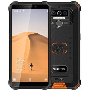 OUKITEL 4G Rugged Cellulare (2020) OUKITEL WP5, Batteria da 8000 mAh, Smartphone Antiurto IP68, Luce Flash a 4 LED, MTK6761 4GB + 32GB, 13MP + 2MP + 2MP, Android 9.0, Riconoscimento Facciale, GPS Arancia