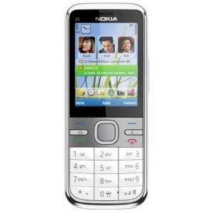 Nokia C5 Smartphone (Display 5,6 cm (2,2 pollici), Bluetooth,Fotocamera da 3,2 Megapixel ), colore: Bianco [Importato da Germania]