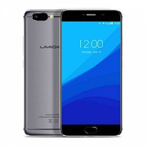 UMIDIGI Smartphone 5.5, UMIDIGI Z Dual SIM Telefono, CPU Helio X27 2.6Ghz Decacore, 4GB RAM+32GB ROM, Android 6.0 (Aggiornamento Android 7.0), Dual Fotocamera 13MP/5MP - Grigio