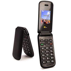 TTsims Telefono cellulare a conchiglia Flip TT140 Fotocamera Bluetooth Il telefono cellulare pieghevole pi economico - Nero
