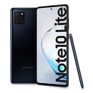 "Samsung Galaxy Note10 Lite Smartphone, Display 6.7"" Super AMOLED, 3 Fotocamere Posteriori, 128 GB Espandibili, RAM 6 GB, Batteria 4500 mAh, 4G, Hybrid Sim, Android 10, [Versione Italiana], Aura Black"