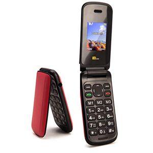 TTsims Telefono cellulare a conchiglia Flip TT140 Fotocamera Bluetooth Il telefono cellulare pieghevole pi economico - Rosso