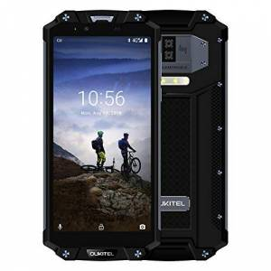 OUKITEL WP2 10000mAh Móvil Libre, robusto smartphone impermeabile / antiurto / antipolvere 4G IP68, 4GB ROM + 64GB, schermo 6 Pulgadas FHD +, fotocamera 16MP/2MP+8MP, Android 8.0, NFC/GPS (nero)