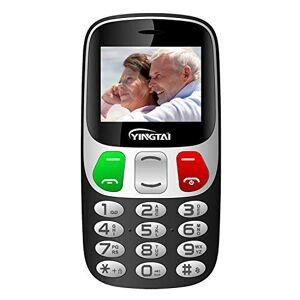 YINGTAI Telefono Cellulare con Tasti Grandi per Anziani con Pulsante SOS by YINGTAI T47 2G (nero)
