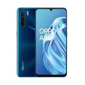 Oppo A91 Smartphone , Display 6.4'' AMOLED, 4, Fotocamere,128GB Espandibili, RAM 8GB, Batteria 4025mAh, Dual Sim, 2020 [Versione italiana], Blazing blue
