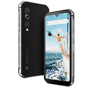 """Blackview Rugged Smartphone,Blackview BV9900 Pro Cellulare Antiurto con Termocamera FLIR, 48MP+5MP+2MP+16MP, Helio P90 8GB + 128GB, 5.84"""" FHD+, 4380mAh, Ricarica Wireless, Android 9.0, Rete Globale-Grigio"""