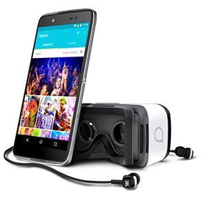 Alcatel Idol 4 Smartphone, Display 5.2' Pollici, 16 GB Memoria interna, 3GB RAM, Fotocamera 13MP, Dual SIM, Android 6.0 Marshmallow, VR incluso, Grigio [Italia]