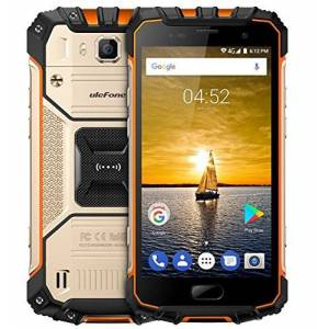 Ulefone Armor 2-5.0 pollici FHD IP68 impermeabile 4G Android 7.0 smartphone, Helio P25 Octa Core 2.6GHz 6GB RAM 64GB ROM, 13MP + 16MP fotocamera NFC GPS 4700mAh carica veloce - Oro