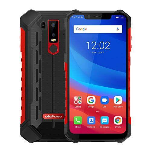 Ulefone. Ulefone Armor 6 Smartphone - IP68 impermeabile 6.219: 9 Schermata FHD Helio P60 6GB + 128GB Android 8.1 Telecamera posteriore doppia 21MP + 13MP NFC Face Sblocca versione globale Telefono (Rosso)