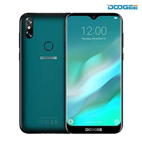 DOOGEE Smartphone in Offerta, DOOGEE Y8 Dual SIM Telefonia Mobile, 4G Smartphones AndroidTM 9, MT6739 Quad-Core, 6.1 Pollici 19:9 HD Schermo, 3GB RAM + 16GB ROM, 8.0MP+5.0MP Fotocamera, 3400mAh - Verde