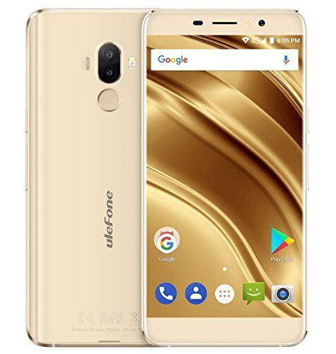 Ulefone S8 Pro - smartphone da 5,3 pollici HD 0.5mm Bezel Android 7.0 4G, fotocamera tripla (5MP + 5MP + 13MP), quad core 2GB RAM + 16GB ROM, GPS, cornice in metallo - oro