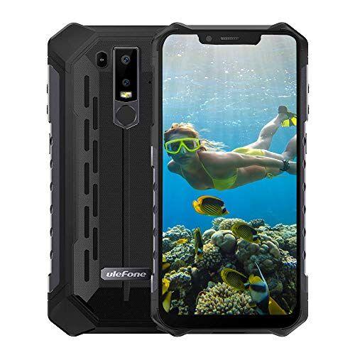 Ulefone Armor 6S Smartphone - IP68 impermeabile 6.219: 9 Schermata FHD Helio P70 6GB + 128GB Android 9.0 Telecamera posteriore doppia 21MP + 13MP 5000mAh 9V/2A NFC Globale Telefono Nero