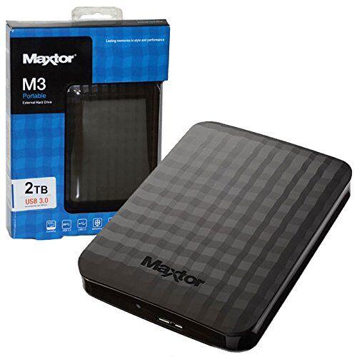 maxtor hard disk esterno 2,5' - 2tb usb 3.0 colore nero stshx-m201tcbm blister