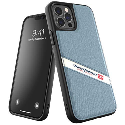 Diesel Progettata per iPhone 12 / iPhone 12 PRO 6.1, Custodia in Denim Moulded Core, Shockproof, Cover Protettiva Testata a Prova di Caduta, con Bordi rialzati, Nero/Blu