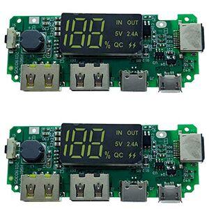 Katigan LED Dual USB 5V 2.4A / Tipo-C USB Mobile Power Bank 18650 Modulo di Ricarica Batteria al Litio Scheda di Ricarica 2 Pezzi