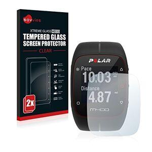 savvies Pellicola Vetro Temperato Compatibile con Polar M400 / M430 (2 Pezzi) Protezione Protettivo Schermo Glass Durezza 9H