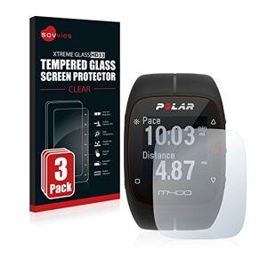 savvies Pellicola Vetro Temperato Compatibile con Polar M400 / M430 (3 Pezzi) Protezione Protettivo Schermo Glass Durezza 9H