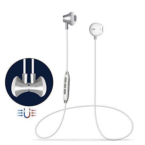 Grandbeing Cuffie Bluetooth Magnetici Sport,Headset Auricolari Bluetooth 4.1 Stereo HiFi con Microfono,Noise Cancelling Avanzate,Paio 2 Dispositivi, per iPhone Samsung LG Xiaomi Huawei
