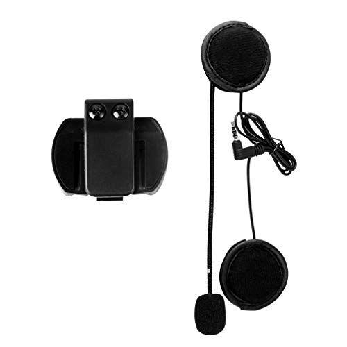 garciakia, cuffie per microfono e altoparlante v4/v6, interfono universale per casco con clip per dispositivo moto