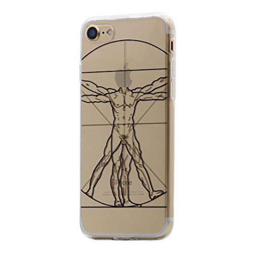 Keyihan iPhone SE 2020 Custodia iPhone 8/7 Cover Interessante Divertente Modello Leggero Sottile Morbido Trasparente Chiaro TPU Silicone Caso per Apple iPhone 7 8 SE (Il Corpo Umano)