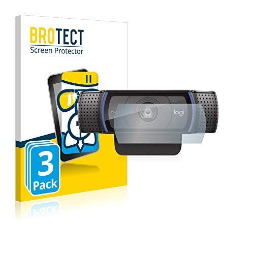 brotect pellicola protettiva vetro compatibile con logitech c920 hd pro webcam (3 pezzi) schermo protezione durezza 9h, anti-impronte, airglass