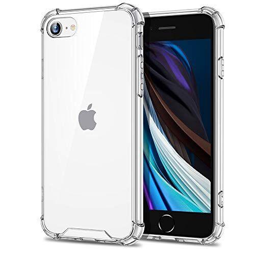EONO by Amazon, Cover per iPhone SE 2020/iPhone 8, Custodia per iPhone SE [Anti Urto] [Indistruttibile] Policarbonato Resistente+ Struttura in Polimero Flessibile, per iPhone SE 2020/8, Trasparente
