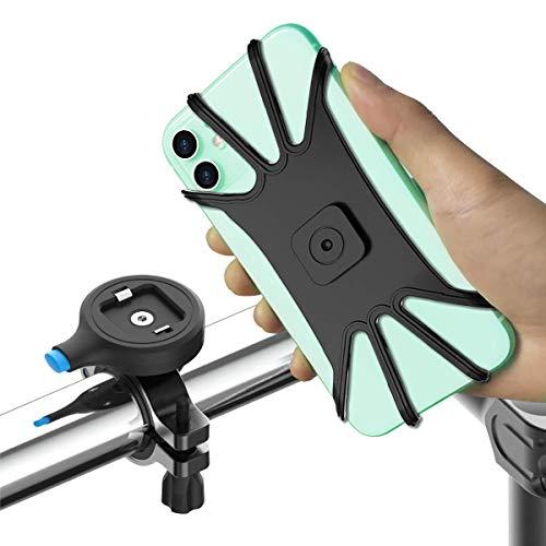 SPORTLINK Supporto Telefono Bicicletta, Universale Metallico Motociclo Porta Cellulare Titolare per Monopattino Elettrico Manubrio per 4,0-6,5 Pollici Smartphone iPhone, Samsung, Huawei eccetera.