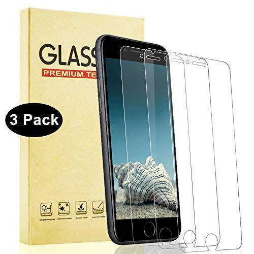 Lixuve iPhone Se 2020 Vetro Temperato [3 Pezzi] Protezioni per Schermo in Vetro Temperato, [Nessuna Bolla] [Anti Graffio] [Anti-Impronte] [Olio-Prova] iPhone 8/7/6S/6 Screen Protector