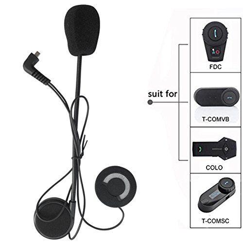 freedconn microfono cuffie altoparlante cavo rigido accessorio per casco moto interfono bluetooth intercom per tcom fdcvb e colo
