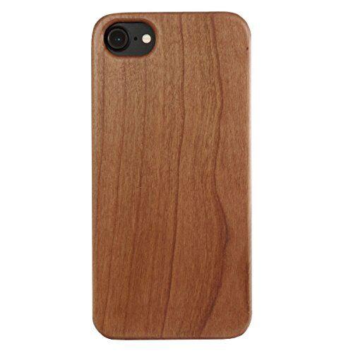 Unbekannt Custodia in legno per iPhone SE (dal 2020) / 8/7/6s e iPhone 6 in legno di ciliegio e TPU, senza logo