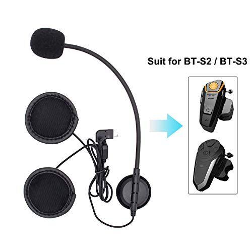 betowey mini usb duro auricolare e altoparlante per interfono moto bluetooth bt-s2 e bt-s3 (mini usb, cavo duro)