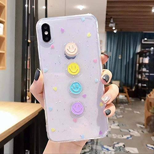 LIMITED Custodia in Resina epossidica Color Caramella e Cuore Carino per iPhone 11Pro Max X XR XS Max 8 7 6 6s Plus Shinning Cover Posteriore in TPU Trasparente Brillante per iPhoneXR Style