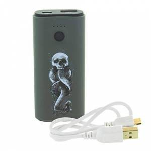 Paladone Harry Potter Death Eater Power Bank Ultra-resistente 5200 mAh caricabatterie portatile Ingresso/Uscita USB per la maggior parte dei dispositivi intelligenti