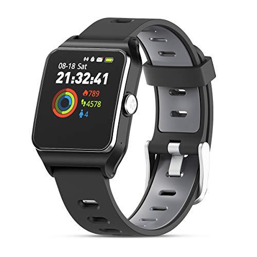HolyHigh Smartwatch Orologio Fitness GPS Impermeabile IP68 Cardiofrequenzimetro da Polso Smart Watch Braccialetto Fitness Activity Tracker Sport Touch Screen per Donna Uomo Bambini Android e iOS