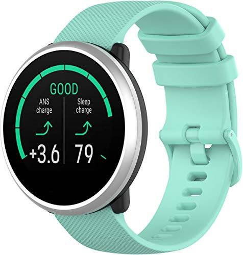 Gosuper Shieranlee Compatibile per Polar Ignite Cinturino, 20MM Quick Release Silicone Band per Huawei,ticwatch,Garmin,Galaxy Watch (42mm), Gear Sport,Gear S2 Classic