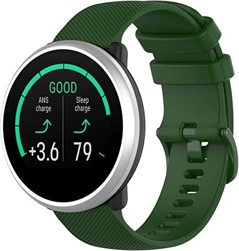 Gosuper Shieranlee Compatibile per Polar Ignite Cinturino, 20MM Quick Release Silicone Band per Huawei,Galaxy Watch (42mm), Gear Sport,Gear S2 Classic