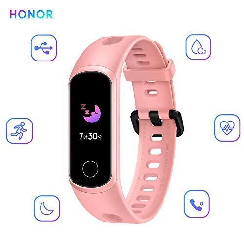 docooler Honor Band 5i Smartwatch Activity Tracker Cardiofrequenzimetro da Polso Contapassi Monitor di Sonno Uomo Donna 2019, Rosa
