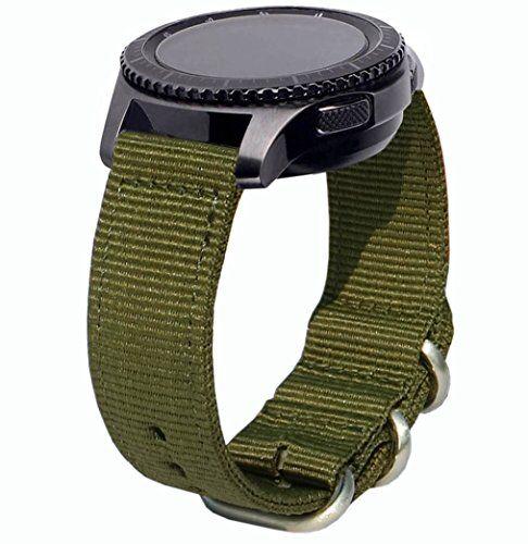 OTOPO Galaxy Watch 46mm & Gear S3 Frontier Cinturino, 22mm Quick Release Premium in Tessuto di Nato Nylon Cinturino di Ricambio Cinturino Band per Samsung Gear S3 Frontier/Classic Smartwatch