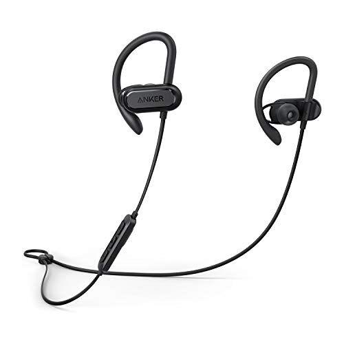 Anker Auricolari sportivi Soundcore Spirit X, Cuffie wireless da Anker, con Bluetooth 5.0, fino a 12 ore di Autonomia della Batteria, Tecnologia IPX7 SweatGuard, Secure Fit per Sport e Allenamenti