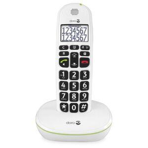 Doro PhoneEasy 110 Telefono Cordless per Anziani con Tasti Grandi e Audio Amplificato (X 1 / Bianco)