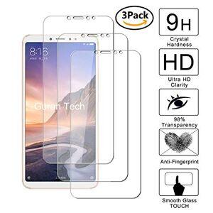Guran [3 Pezzi] Pellicola Protettiva per Xiaomi Mi Max3 Smartphone Ultra Sottile Screen Protector in Vetro Temperato Film Ultra Resistente