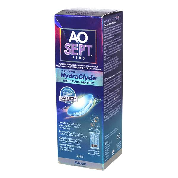 Alcon Aosept Plus Con Hydraglyde - 360ml