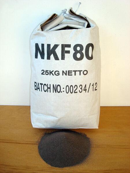 SOGI Corindone 25 Kg grana 80 ossido alluminio sabbiatrice sabbia graniglia abrasivo sabbiatura