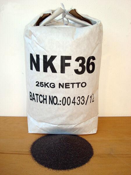 SOGI Corindone 25 Kg grana 36 ossido alluminio sabbiatrice sabbia graniglia abrasivo sabbiatura