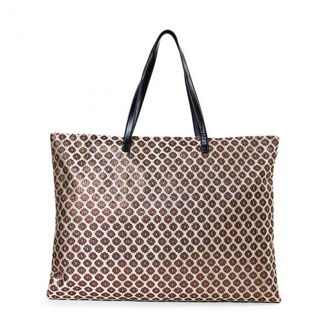 FASHIONDESIGN grande borsa mare per donna con disegno glitter
