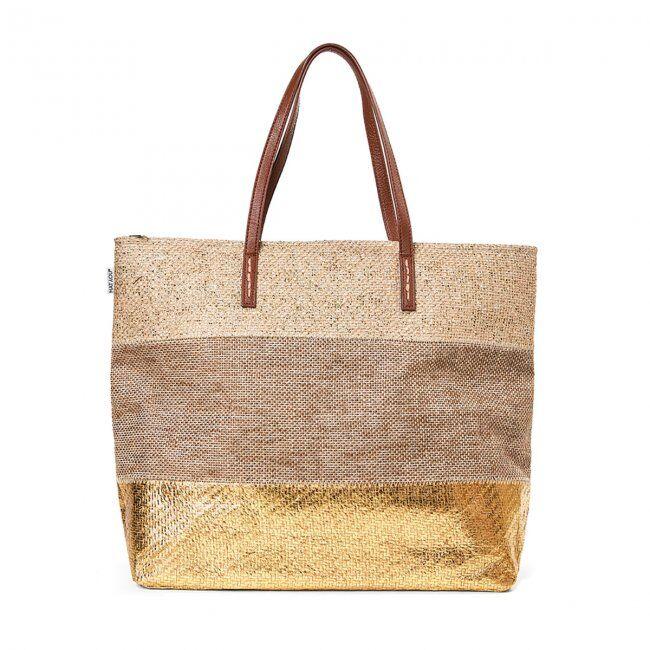 FASHIONDESIGN borsa mare per donna con disegno glitter
