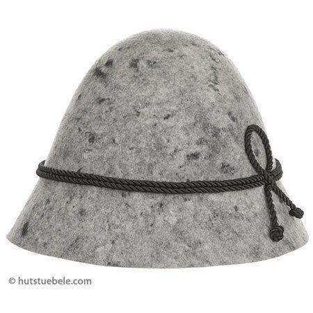 hutter cappello hias in feltro lana con cordone di seta